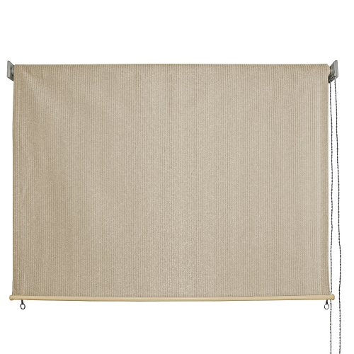 Keystone Fabrics 6215 Baja Exterior Roll Up Solar Shade, Monterey, 8-Feet by 6-Feet